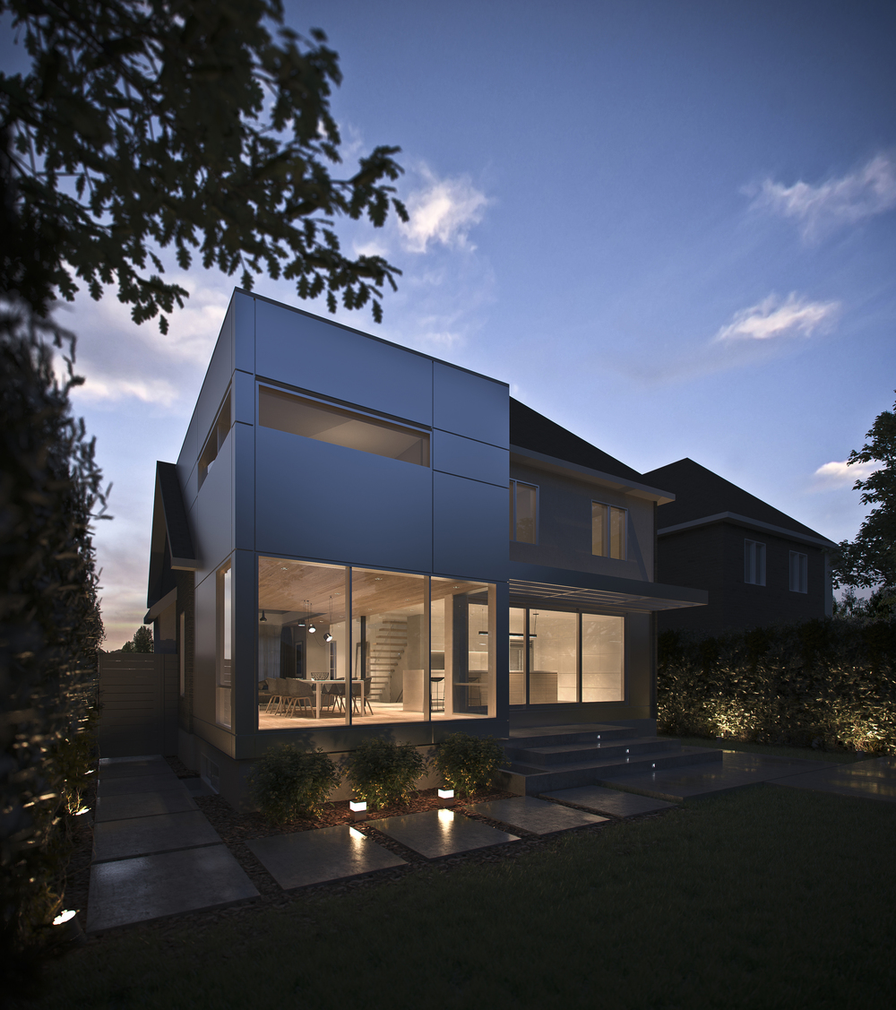 ARCHITECTURE: Vue arrière de l'agrandissement