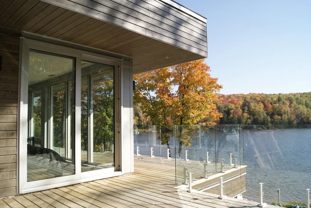 Architecture Vue de la terrasse de l'étage