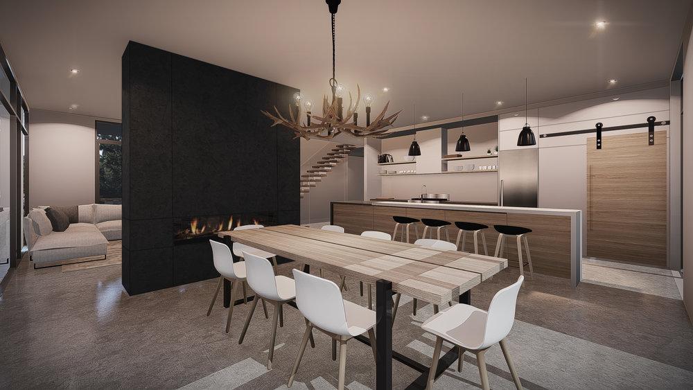 Design intérieur Vue Cuisine & Salle à manger