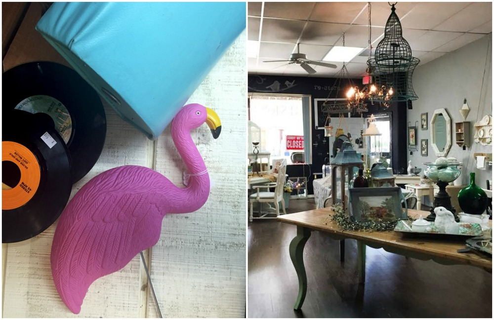 Gems to be found in each thrift shop.                       Modern-chic furniture shops.