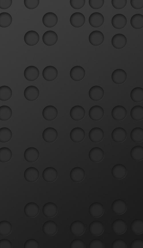 Iphone 6 Plus Black Dot Pattern Wallpaper