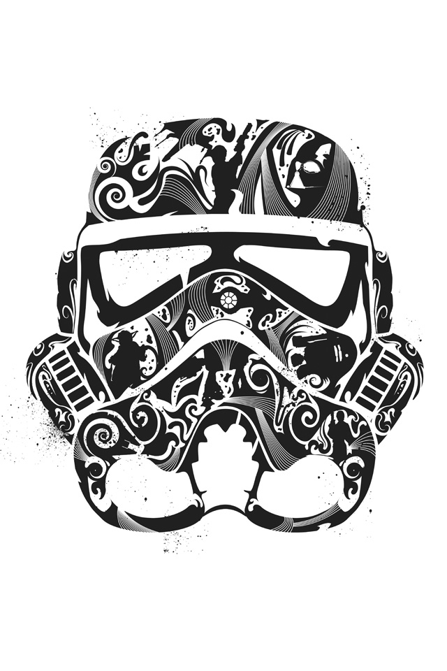 White Storm Trooper G Iphone4 Wallpaper Ipodtouch4