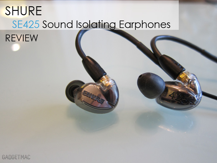 ce6ff04e531 The Shure SE425 Sound Isolating Earphones are just a step down from the  company's flagship in-ear monitor, the beloved SE535.
