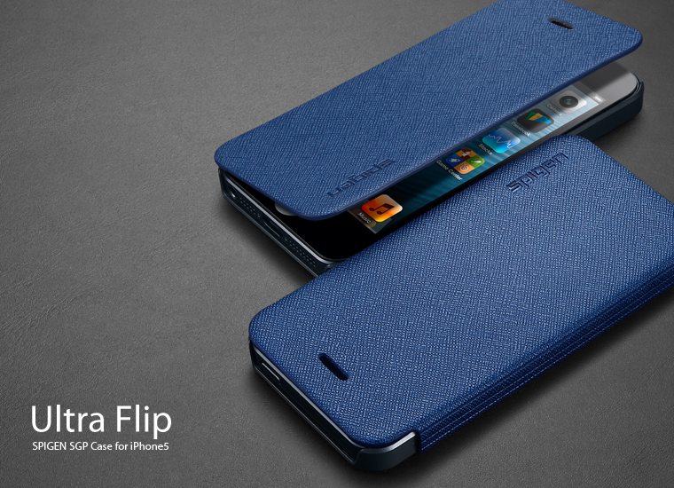Spigen Ultra Flip iPhone 5 Case, The Samsung Flip Cover Clone ...