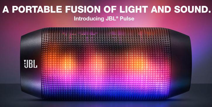 JBL Pulse Wireless Portable Speaker Lights Up A Party ... Jbl Portable Speakers Light Up
