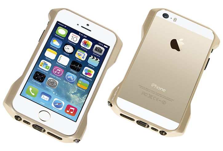 los angeles 8788f b772a Golden Cleave Zero Aluminum iPhone 5S Bumper By Deff Japan Is ...