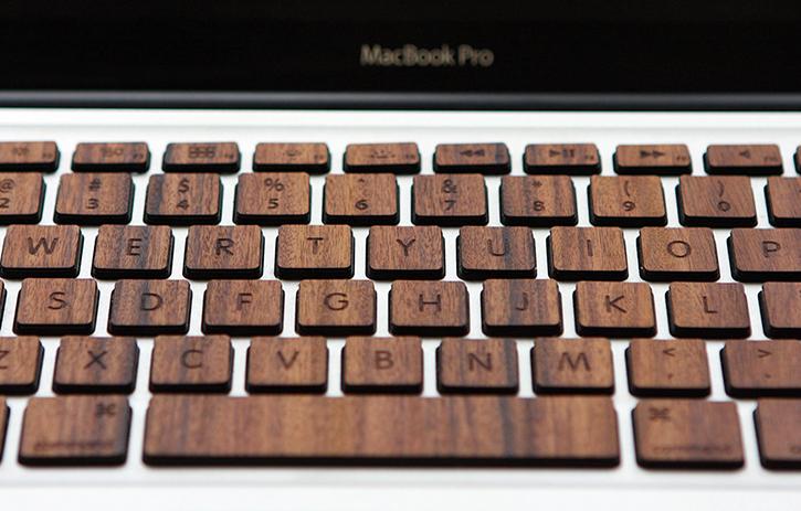 more photos 4bed4 111d6 Wood MacBook Pro Keyboard Keys By RAW BKNY — Gadgetmac