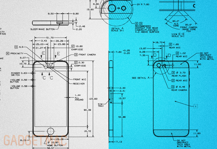 Apple releases the iphone 5 blueprint gadgetmac apple has released a fascinating in depth official iphone 5 blueprint for case and accessory manufactures to help and guide the making of iphone 5 malvernweather Gallery