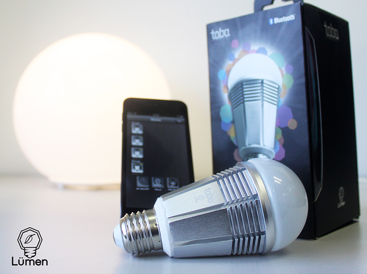 Tabu's App-Enabled Bluetooth Smart LED Lumen Bulb Offers Colorful ...:Tabu is showing off its less costly version of the Philips Hue colorful  wireless light bulb at CES 2014. Tabu's Versifli Lumen Bulb TL800 is  standalone $70 ...,Lighting