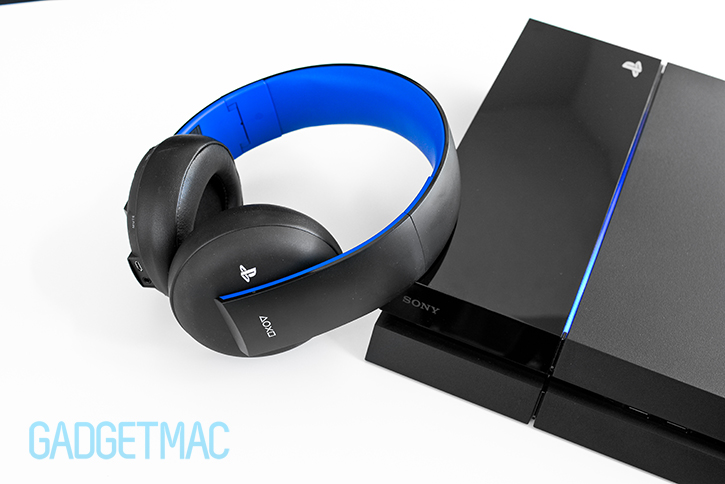 sony gold ps4 wireless stereo headset review gadgetmac. Black Bedroom Furniture Sets. Home Design Ideas