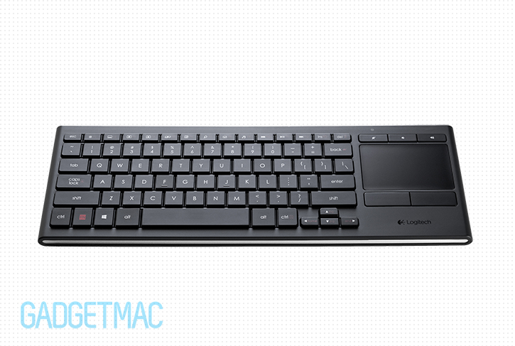 Logitech k830 illuminated wireless living room keyboard for Living room keyboard