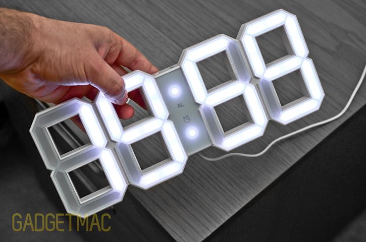 Kibardin White White LED DeskWall Clock HandsOn Gadgetmac