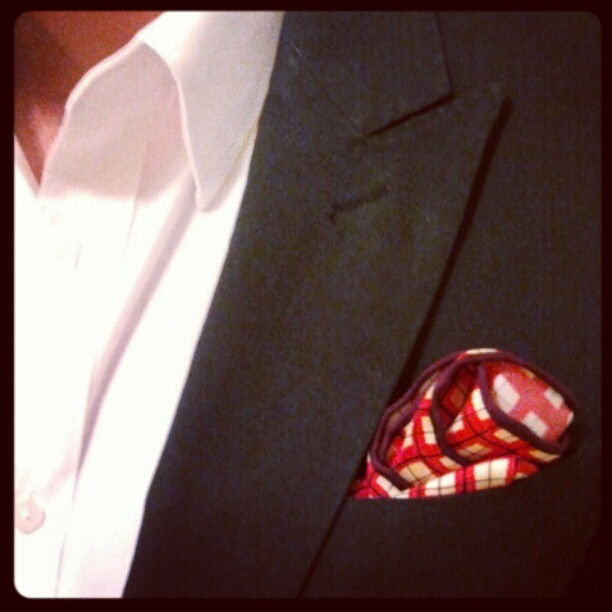 New pocket square. (Taken with  instagram )