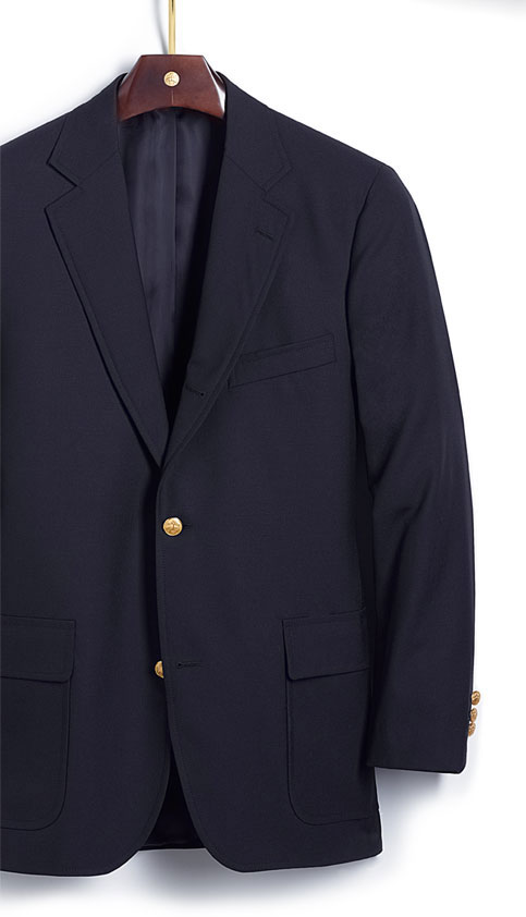 "putthison :      The Brooks Brothers Blazer: The Real Deal      I f you asked me what the single most classic item of American men's clothing was, I'd have a pretty solid answer. The Brooks Brothers blazer.   Patch pockets. A three-roll-two: three brass buttons, with two showing. Undarted. Ready to go anywhere, anytime and to do it with grace.   The Brooks Brothers blazer is an American innovation. It's the default choice for anyone who's going somewhere where they want to look sharp but don't want to wear a suit. Which is, of course, a classic American mode.   And they're available to anyone! I don't think I go five thrift store visits in a row without spotting one of these. I just took a look at eBay - you can grab one in almost any size for less than $100. Or you can stroll into any Brooks Brothers in the world and  grab one brand new .   If gold buttons are too fuddy-duddy for you, have them replaced. It's a $35 operation, including  the buttons . Consider mother-of-pearl in white or gray, or silver, or enamel, or brown horn. Grab a cool vintage blazer button set from a flea market or eBay. Make it your own.   Get yourself one of these blazers. It will be the only item in your closet you truly wear until it's worn out. It will have the same role in your wardrobe thirty years from now that it has today. It's simple, easy to wear, and with a flourish (or the opposite) you can change its look for any situation.   You hear the word ""classic"" tossed around all too much in menswear circles, but the Brooks blazer is the real deal."