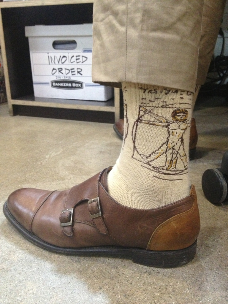 It's a Da Vinci socks kinda day.