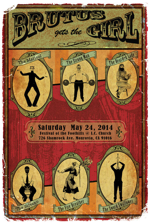 bgtg :     Come one, come all! Behold the freak show that will be presented live for your entertainment. They will all be there, The Strong Man, The Fire Breather, The Marisol, The Silvano and many more! Witness it first hand on Saturday May 24th from 3-4pm at the Festival of the Foothills @ I.C. Church Fiesta - 726 Shamrock Ave. Monrovia, CA 91016. It's a show that you have to see with your own eyes to believe!