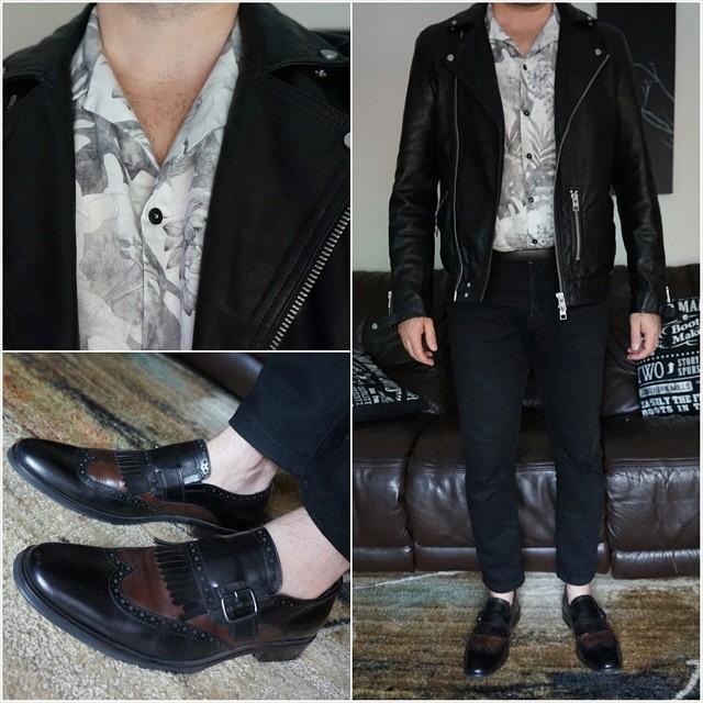 Thursday mood    #modepopuli #moda #menwithstyle #menswear #mensfashion #mensclothing #mensootd #fashionpost #fashion #zara #zarausa #allsaints #hm #leather #leatherjacket #blackandwhite #thursdaymood