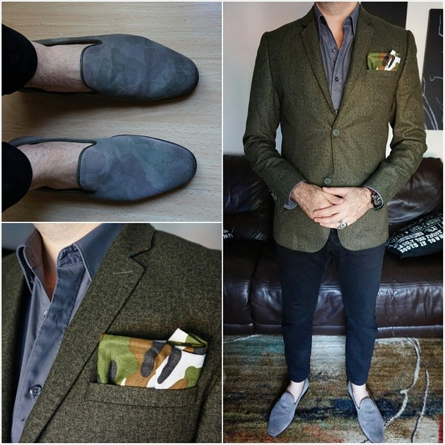 Greys and greens     #modepopuli #moda #menwithstyle #menswear #mensfashion #mensclothing #mensootd #fashionpost #fashion #hm #hmtrend #pocketsquare #G2000 #camouflage #losangeles #loafers #aldoshoes #howeclothing #greysandgreens