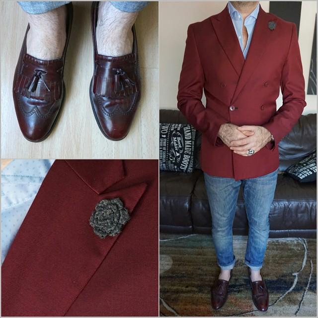 Wine Blues    #modepopuli #moda #menwithstyle #menswear #mensfashion #mensclothing #mensootd #fashionpost #fashion #uniqlousa #uniqlo #LA #losangeles #allsaints #loafers #hmtrend #hm #gqstyle #GQ #florsheimshoes #hookandalbert #wineblues