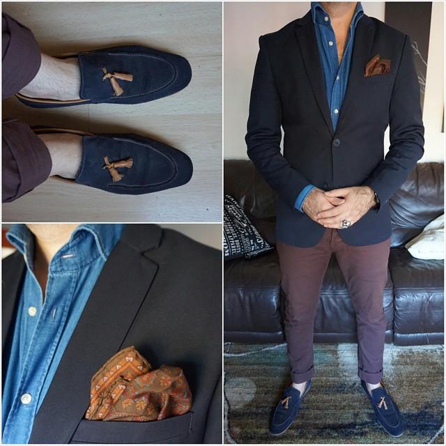Friday blues    #modepopuli #moda #menwithstyle #menswear #mensfashion #mensclothing #mensootd #fashionpost #fashion #hm #hmtrend #pocketsquare #gqstyle #GQ #allsaints #21men #zara #zarausa #fridayblues