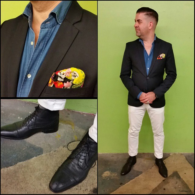 Week de los Muertos    #modepopuli #moda #menwithstyle #menswear #mensfashion #mensclothing #mensootd #fashionpost #fashion #uniqlousa #uniqlo #LA #losangeles #style #pocketsquare #followme #hm #hmtrend #21men #asos #skulls #weekdelosmuertos