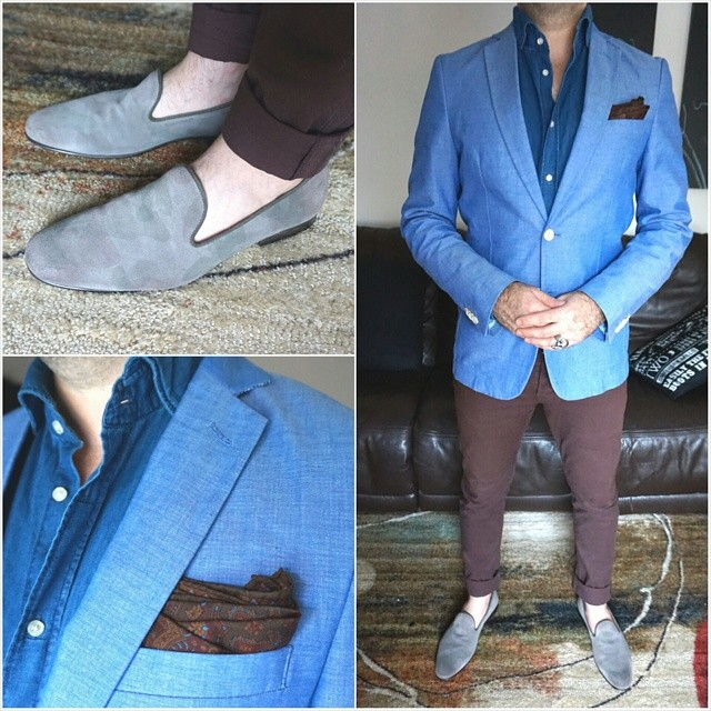 Blue & brown    #modepopuli #menwithstyle #menswear #mensfashion #mensclothing #mensootd #fashion #allsaints #hm #scotchandsoda #aldoshoes #blue #brown #ootd #fashionpost #moda #losangeles
