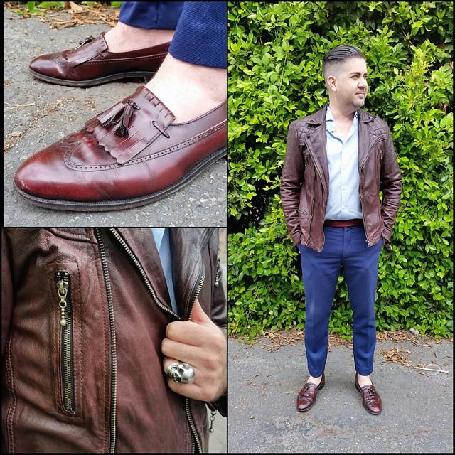 Leather Weather    #modepopuli #moda #menwithstyle #menswear #mensfashion #mensclothing #mensootd #fashionpost #fashion #hm #hmtrend #GQ #gqstyle #uniqlousa #uniqlo #florsheimshoes #allsaints #leatherjacket #leatherweather