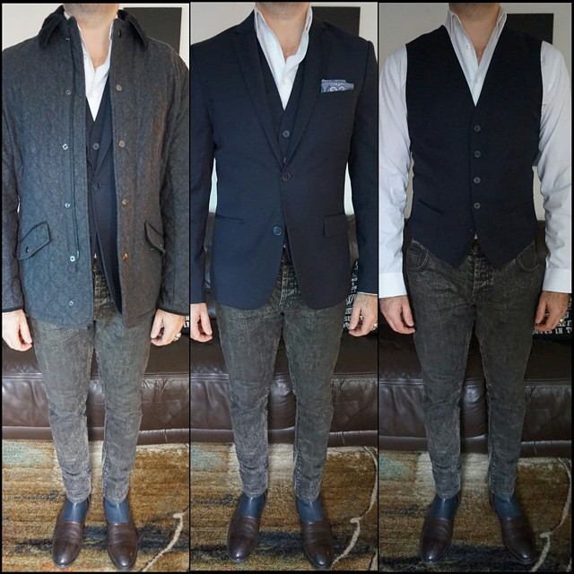 Layers    #modepopuli #moda #menwithstyle #menswear #mensfashion #mensclothing #mensootd #fashionpost #fashion #zara #zarausa #pocketsquare #21men #GQ #gqstyle #LA #chipandpepper #vest #jeans #style #hm #hmtrend #layers