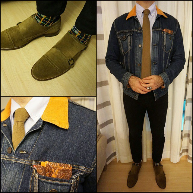 Denim Jacket Blues    #modepopuli #moda #menwithstyle #menswear #mensfashion #mensclothing #mensootd #fashionpost #fashion #hm #hmtrend #pocketsquare #style #dapper #thetiebar #GQ #gqstylehunt #gqstyle #gqego #zara #zarausa #levis #uniqlo #uniqlousa #denimjacketblues