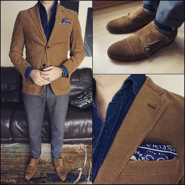 Brown, Grey & Blue    #modepopuli #moda #menwithstyle #menswear #mensfashion #mensclothing #mensootd #fashionpost #fashion #zara #zarausa #pocketsquare #clarkeandbarba #dapper #style #uniqlo #uniqlousa #allsaints #hm #hmtrend #browngreyandblue