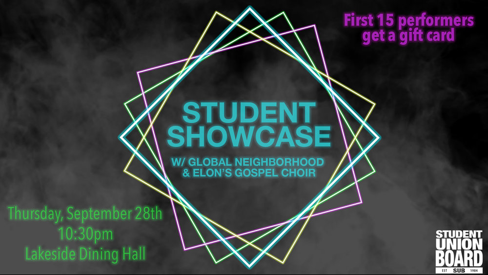 Showcase your talent and support your friends who are performing! The first 15 performers get gift cards!