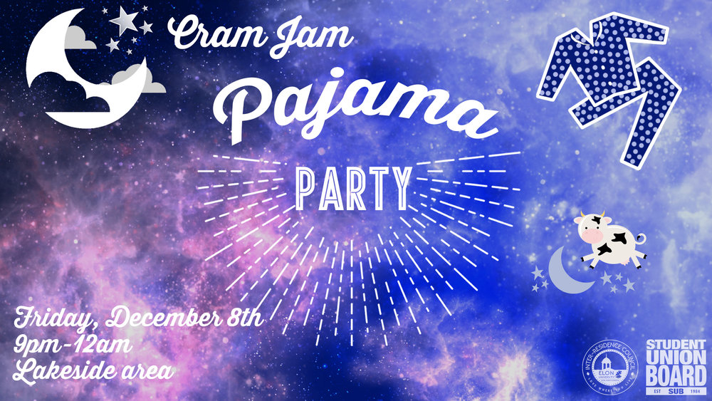 Join us in our last event of the semester! Cram Jam is a great way to destress from finals and enjoy massages, free food and games! Stop by on Friday, December 8th from 9pm-midnight.