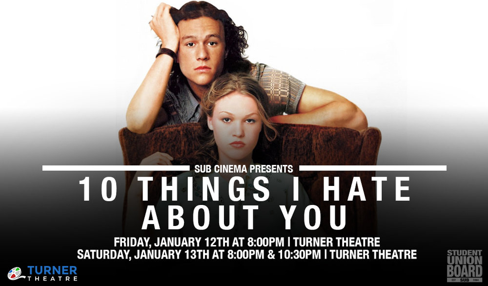 Come see this throwback hit movie on Friday the 12th at 8pm or Saturday the 13th at 8pm & 10:30pm in Turner Theatre!