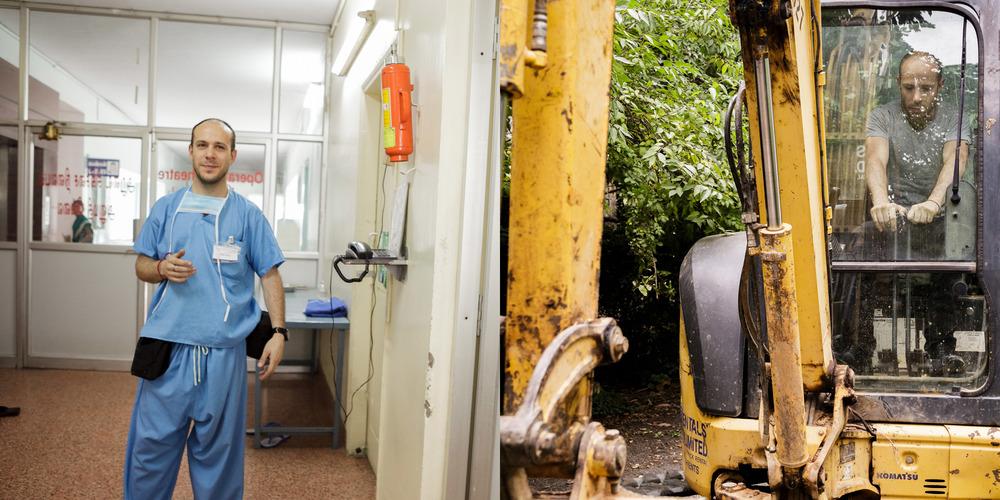 Hospital O.R. / Excavator Operation