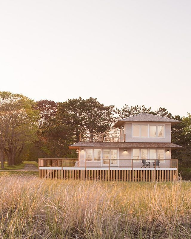 Can we please stop it with all this snow business and return to the sound of whispering beach grass? This art studio is a companion to an ocean front home we built almost 20 years ago. The property is unlike anything we've seen and the whole team relished every moment we got to work here! #customhomes #artstudio #oceanfront #sprawlingproperty