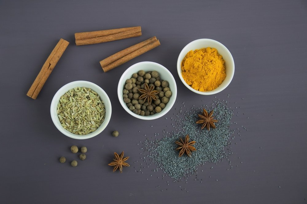 Spices help warm the body during the cold Winter months and are especially important in the case of adrenal and Kidney Yang deficiency with cold body and fatigue.