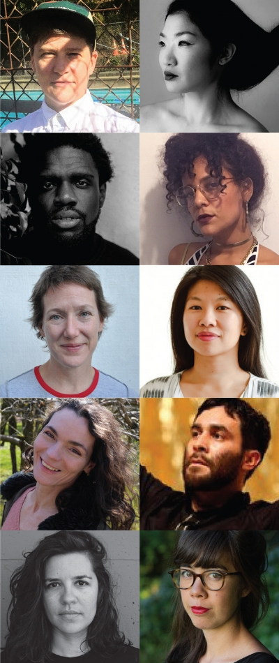 Commissioned artists, from top left: Maxe Crandall, Julie Moon, Dazaun Soleyn, Sofia Cordova, Christy Funsch, Sophia Wang, Nicole Peisl, Alex Escalante, Danishta Rivero, Jenny Odell
