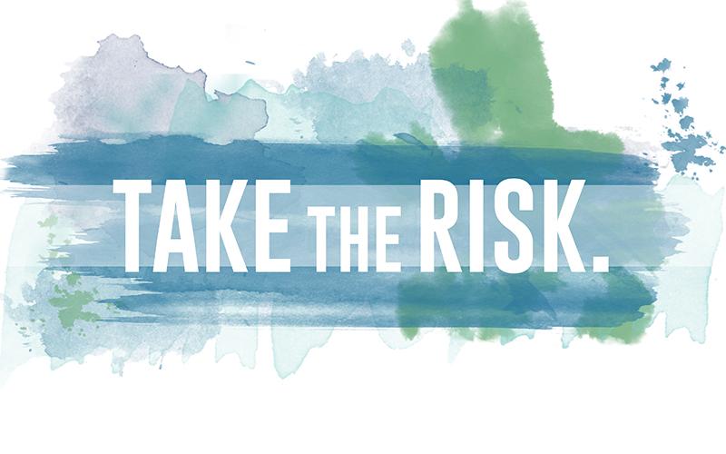 "Hue & Tone Freebies - ""Take the Risk"" free desktop wallpaper"