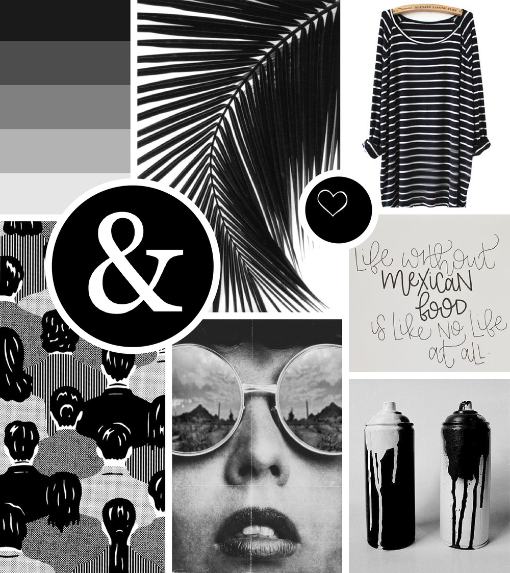 Mood Board Everything Isn T Black And White Hue Amp Tone