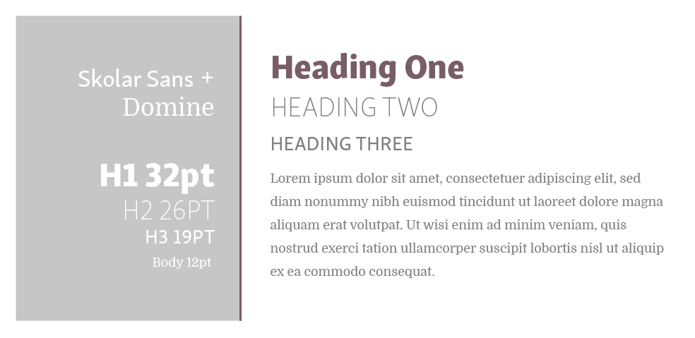 Skolar Sans + Domine  |  Squarespace Font Pairings  |  Hue & Tone Creative