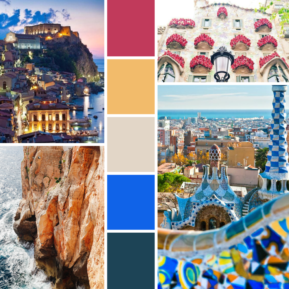 Around the world moodboards  |  Hue & Tone Creative