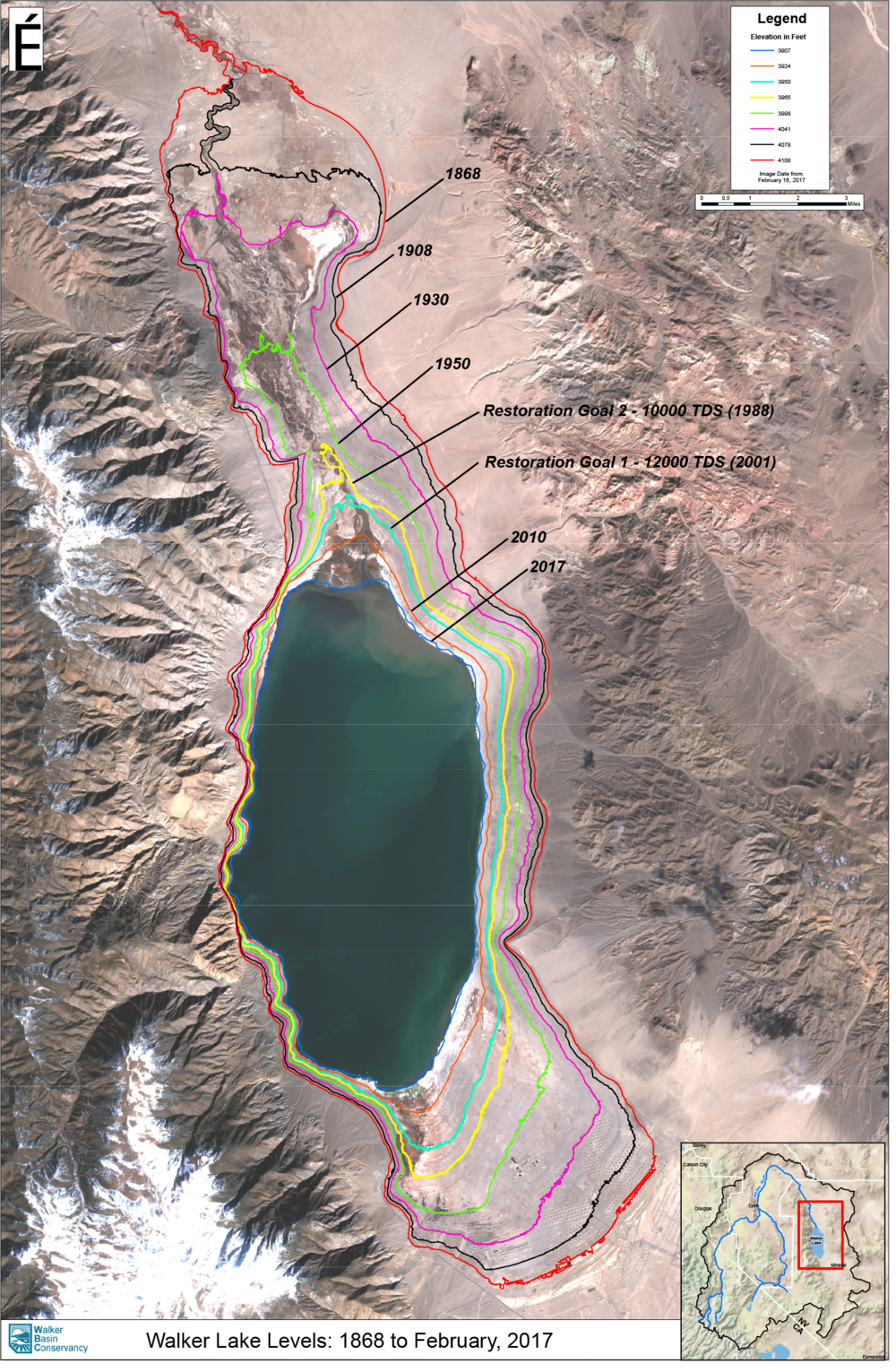 Walker Lake Level Detail