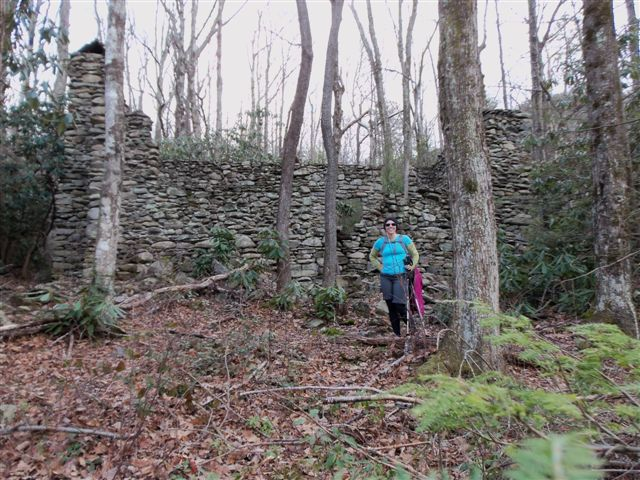 We finally found the old stone mystery house in the Old Sugarlands Area!