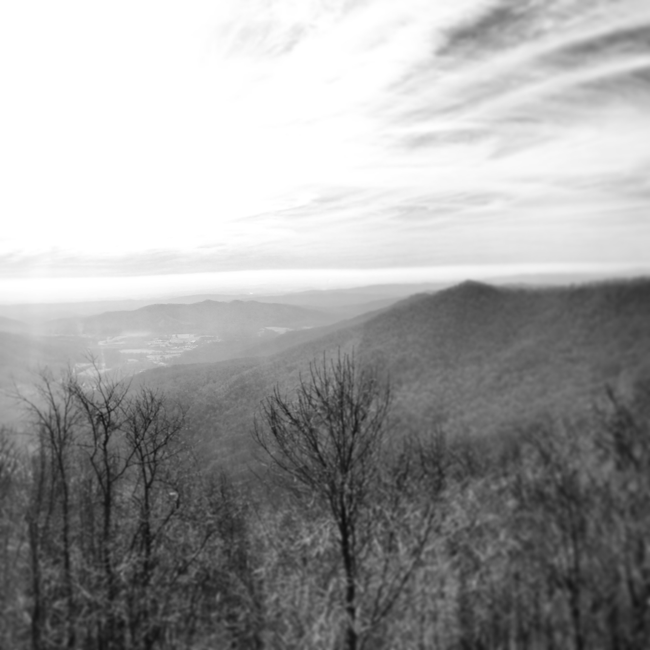 I took this photo from Frozen Head Natural Area in Wartburg, TN on 1-5-13.  The valley below shows the town of Coalfield.