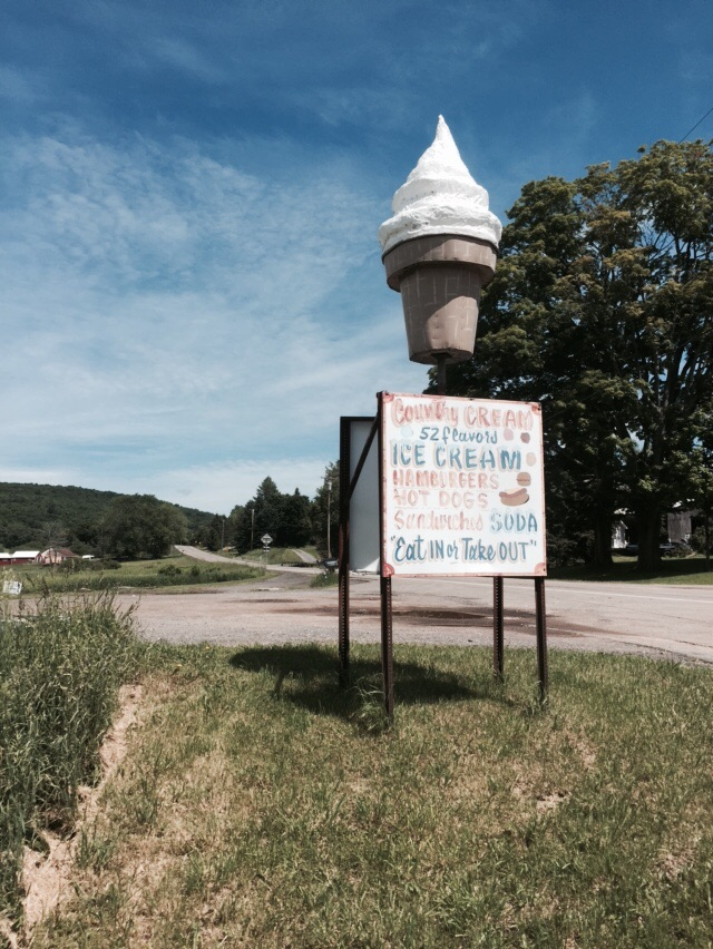 When you see this giant ice cream beacon, you run - don't walk!
