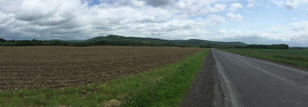 The rolling central NY hillsides.