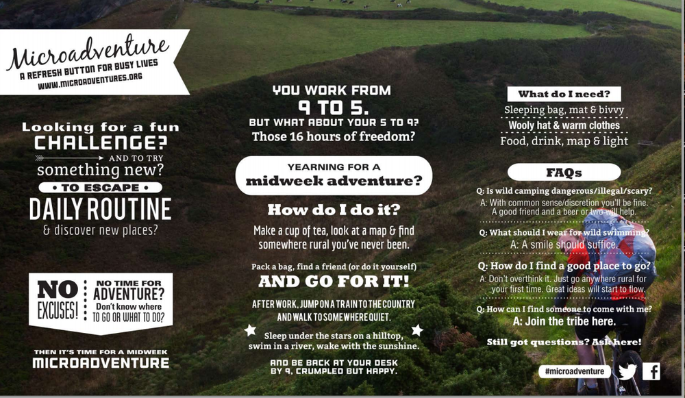 A simple infographic about microadventures!