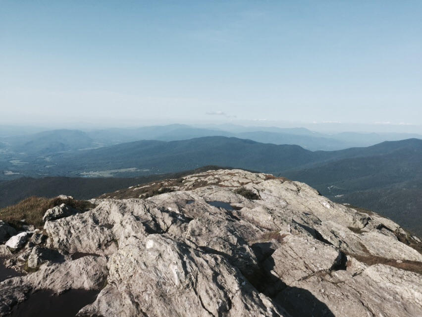The stunning view from The Chin, the highest peak in Vermont