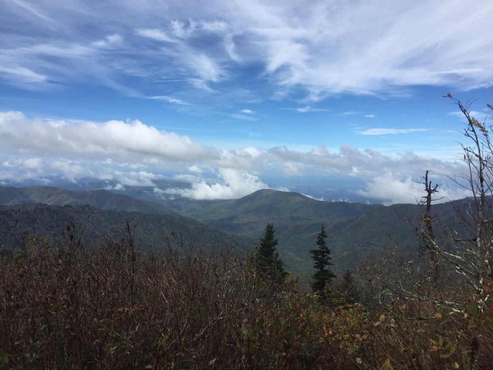 Skies clearing near Clingman's Dome