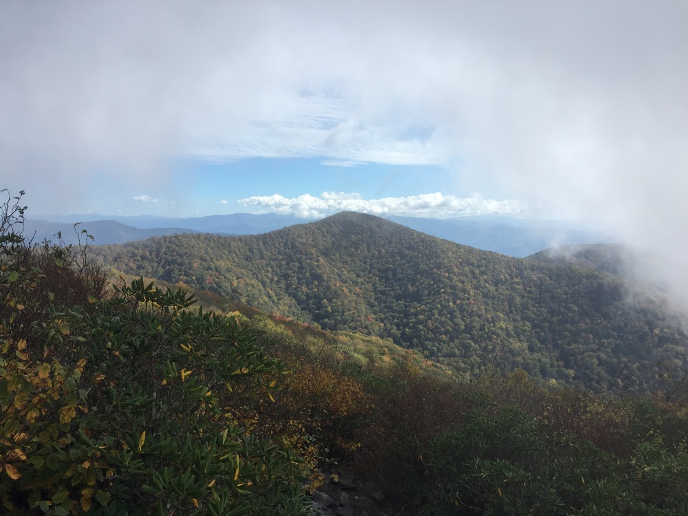 Clouds breaking on Rocky Top